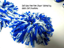 here is a quick tutorial of how i made these cheer pom poms after watching a yout on making size and i just made my doll size and i used
