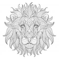 a face of a lion coloring page