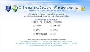 Florida Insurance Quotes Rates Calculators Coverage Policies Simple Term Life Insurance Quote Calculator