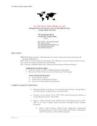 International Relations Major Resume