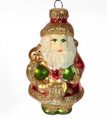 Christbaumschmuck Glas Christbaumkugel Weihnachtsmann