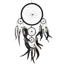 Purchase Dream Catchers Dream Catcher Handmade Traditional Black White Silver 100 50