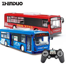 zhenduo toys e635 0012 4g remote control bus car charging electric open door rc car model toys for children gifts