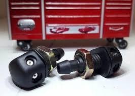 Kit Classic Car IVA Black Tapered Dual Jets Windscreen Washers Screw  Fitting x2   eBay