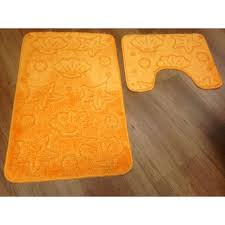 orange bath rug set designs fancy bathroom sets