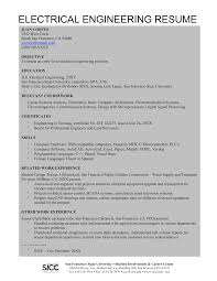Free Electrical Engineering Resume Templates At
