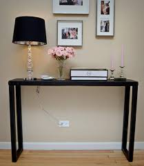 tall foyer table. Interesting Small Foyer Table Designs. Simple Entry Way Decoration Come With Black Tall A
