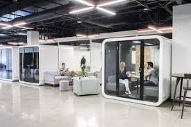 Image Taihan Framery Smart Acoustic Solution For Open Plan Office Spaces Symmetry50 Office Design Trends Ideas Work Design Magazine