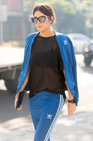 adidas tracksuit. le fashion blog 90s style afw street cat eye sunglasses adidas track suit sheer top tracksuit