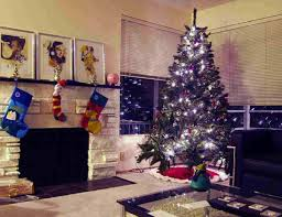Living Room Christmas Decorating Purple And Silver Christmas Tree Decorating Ideas White Garland