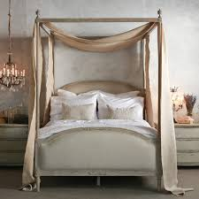 A charming shabby chic four poster - Eloquence Dauphine Beach House Natural  Canopy Bed @LaylaGrayce