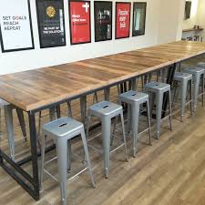 custom office tables. Hand Made Reclaimed Wood And Steel Industrial High Top Conference Table By Re.dwell | CustomMade.com Custom Office Tables