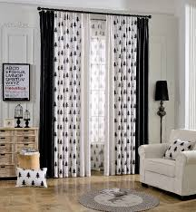 White And Black Curtains For Living Room Luxury Europe Fantasy Forest Pattern Blackout Curtains Black Cloth