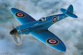 spitfire aircraft. supermarine spitfire pr. mk xix: azure blue. aircraft w
