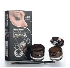 eyebrow shadow. aliexpress.com : buy makeup kit 2in1 black brown waterproof eyeliner gel \u0026 eyebrow powder with brush for eyebrows shadow to from reliable i