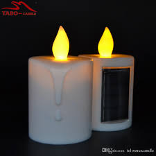 solar led candles memorial solar powered energy candle for cemetery with amber flickering light outdoor candle
