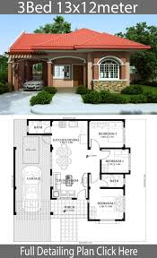 Neat House Designs Home Design Plan 13x12m With 3 Bedrooms Neat House Plans