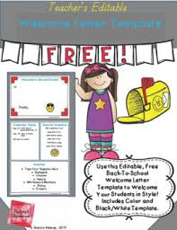 Welcome Back To School Letter Templates Editable Welcome Letter Template By Redcays Resources Tpt