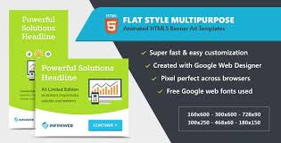 Flat Style Animated Banner Ad Templates Html5 Gwd