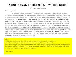 thinktime inc gkt essay information ppt  sample essay thinktime knowledge notes