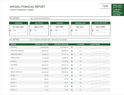 how to make a report card on microsoft word annual financial report