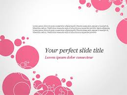 Pink Bubbles And Circles Background Powerpoint Template Backgrounds