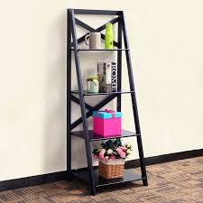 office book shelf. costway 4tier ladder shelf bookshelf bookcase storage display leaning home office decor book r