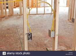 electrical wiring in new home construction stock photo royalty electrical wiring in new home construction