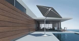 shadecraft s solar smart patio umbrella has built in s to photos