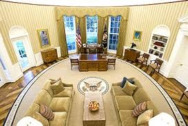 oval office wallpaper. The Redecorated Oval Office Has New Carpeting, Wallpaper And Sofas F