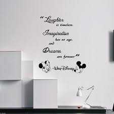 luxury design disney wall decor small home decoration ideas laughter is timeless walt e mickey minnie vinyl stickers es target plaque in