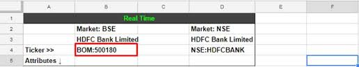 Nse Live Chart Google How To Get Bse Nse Real Time Stock Prices In Google Doc