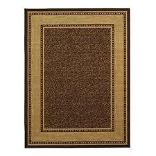 ottomanson ottohome collection contemporary bordered design modern area rug with non skid rubber backing 5 0 x6 6 chocolate brown ottomanson