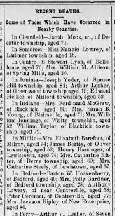 1899 Mrs Polly Gardner 28 of Bedford death - Newspapers.com