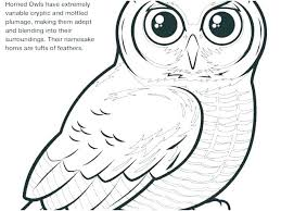 Great Horned Owl Coloring Pages Owl Coloring Pictures Free Owl