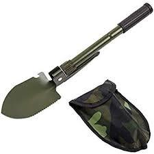 <b>Military Portable Folding Beach</b> Shovel Survival Spade: Amazon.in ...