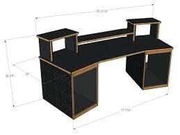 home studio desk recording studio mixing desk for digital audio workstationost control surfaces made