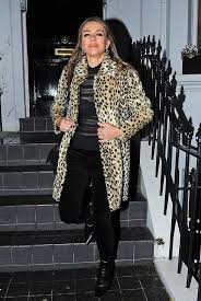 Elizabeth hurley stunned in a purple coat as she stepped out in london. Elizabeth Hurley Light Gold Fur Coat Street Style London 2019 Sassy Daily Fashion News