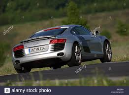 Audi R8 4.2 FSI, model year 2007-, silver, driving, diagonal from ...