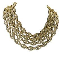 14k gold pt 12mm 8 5 30 iced out puffed mariner gucci link choker chain 16 chain amazon
