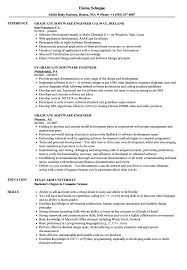 Graduate Software Engineer Resume Samples Velvet Jobs