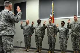 Military Police National Guard La Guardsmen Reenlist During Senior Leader Visits Louisiana