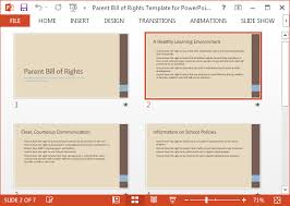 bill of rights ppt parent bill of rights template for powerpoint