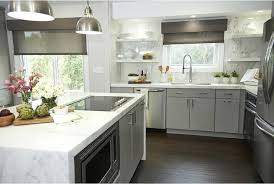 kitchen island countertop gray island with white quartz waterfall kitchen island countertop overhang support