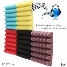 image is loading pyramid acoustic wedge studio soundproofing foam wall tiles
