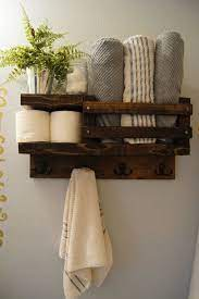 Bath Towel Shelf Bathroom Wood Shelf Towel Rack Towel Rod Towel Hanger Bathroom Rustic Storage F Bathroom Wood Shelves Rustic Bathroom Decor Wood Shelves