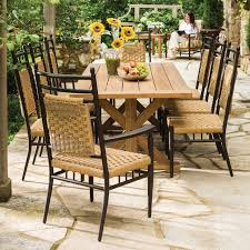 outdoor dining sets for 8. Traditional Country Farmhouse Large Patio Dining Set With 8 Chairs And Natural Teak Table. The Outdoor Sets For I