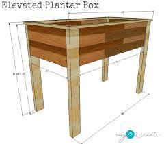 elevated planter box plans mylove2create elevated garden planters e86