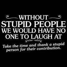 Stupid Quote | I don't know about this one. Without stupid people ... via Relatably.com