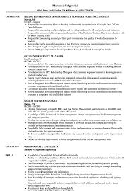 Senior Service Manager Resume Samples Velvet Jobs